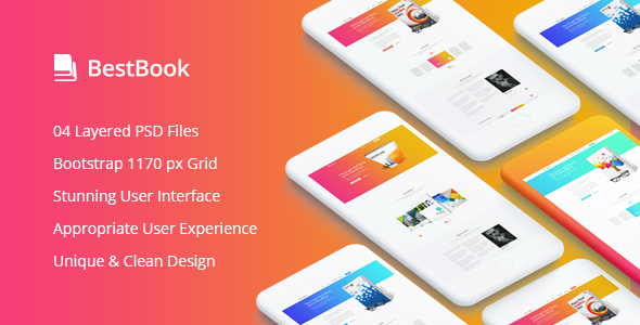 Bestbook - Book Author & Marketers Landing Page PSD Template