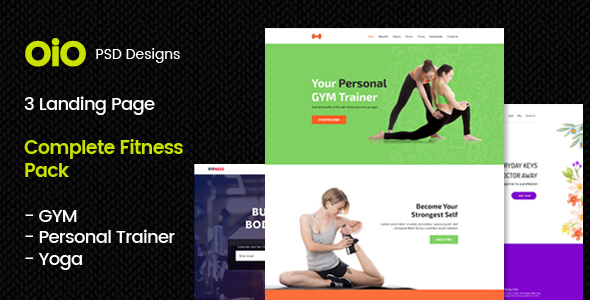 Complete Fitness Pack – GYM, Yoga & Personal Trainer