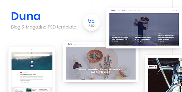 Duna - Blog & Magazine Template