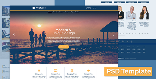 Elegant Business/Corporate PSD Template