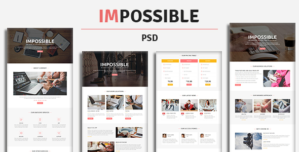 IMPOSSIBLE - PSD Template