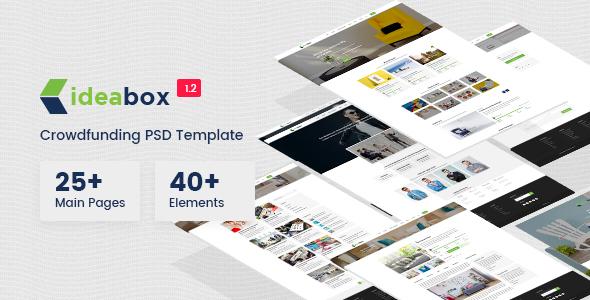 Ideabox - Crowdfunding PSD Template