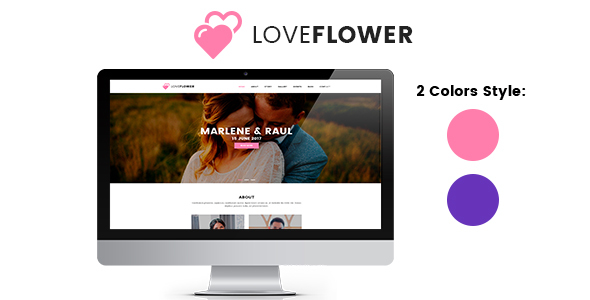 LoveFlower - Template Wedding PSD