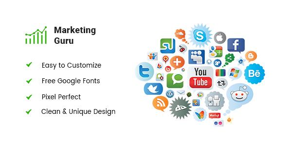MARKETING GURU - Marketing Landing Page PSD Template