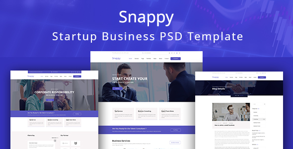 Snappy - Easy Startup Business PSD Template