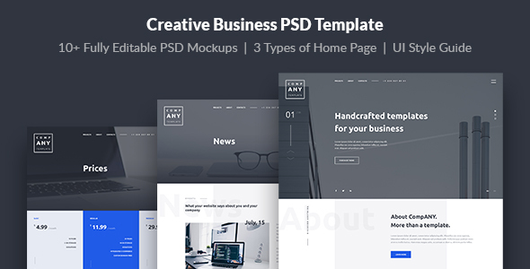 ANY — Creative Business PSD Template