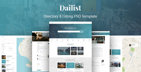 Dailist - Directory & Listing PSD Template