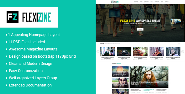 Flexi - PSD Template for Blog, Personal and News