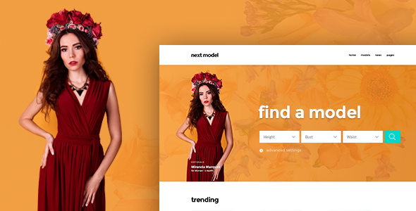 Next Model - Stylish Directory Template for Model Agency and Models