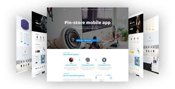 Pin_Store - Mobile App PSD Template
