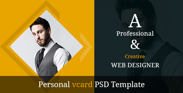 personal vcard psd template