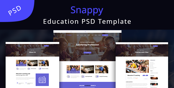 Snappy - Education Learning PSD Template