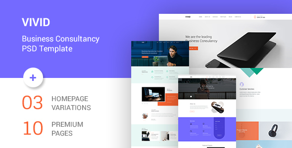 Vivid - Business Consultancy PSD Template