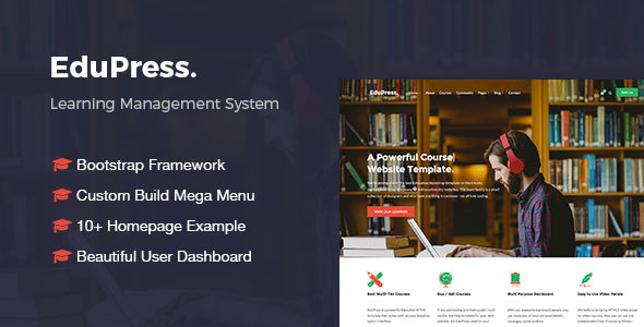 EduPress | Responsive LMS, University Education Bootstrap Site Template