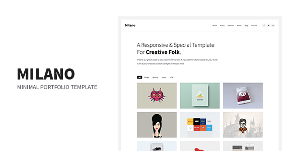Milano - Minimal Creative Agency Portfolio Responsive Site Template