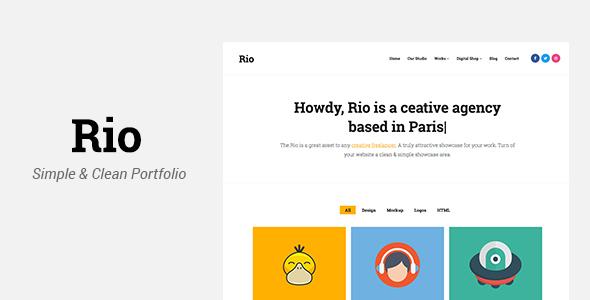 Rio - Creative Responsive Portfolio Template