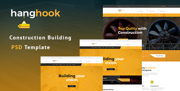 Hanghook - Construction & Building PSD Template