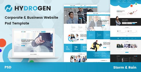 Hydrogen - Corporate & Business Website Psd Template
