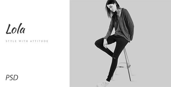 Lola - Minimal eCommerce Fashion PSD Template