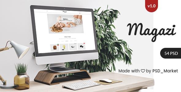 Magazi - Multipurpose e-Commerce PSD Template