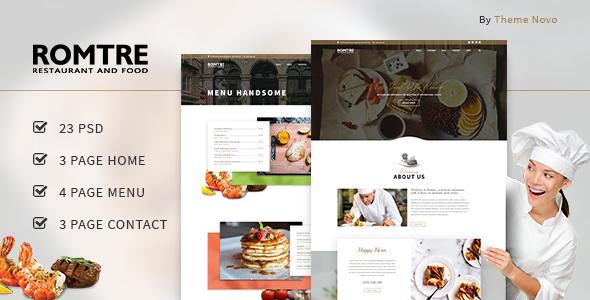 ROMTRE - Cafe & Restaurant PSD
