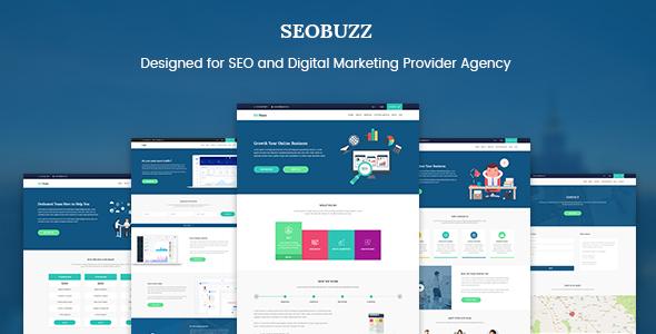 SEObuzz - SEO Analysis and Marketing Service Provider Agency Template