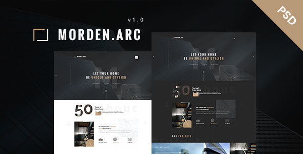 morden.arc - Architecture and Interior PSD Template