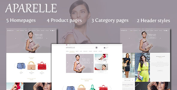 Aparelle Fashion eCommerce PSD Template
