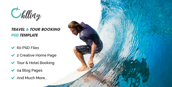 Chilling   Travel & Tour Booking PSD Template