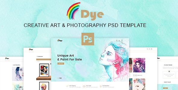 Dye – MultiPurpose Creative Art & Photography PSD Template