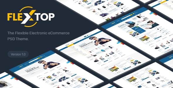FlexTop - Electronics eCommerce PSD Template