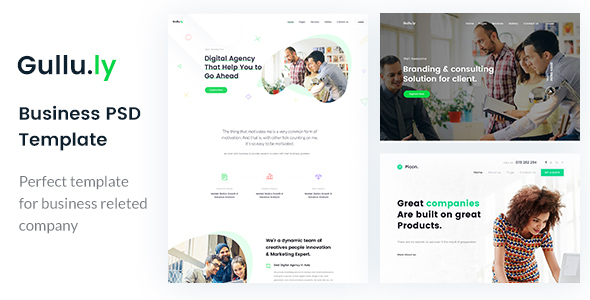 Gullu.ly - Creative Digital Agency & Multipurpose PSD Template