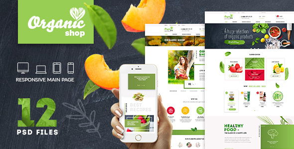 Organic | Organic Food & Cosmetics | PSD Template