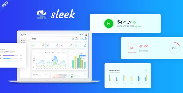 Sleek - Web Application & SASS Admin Panel PSD Template