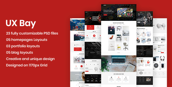 UX Bay - Creative Multi-Purpose PSD Template