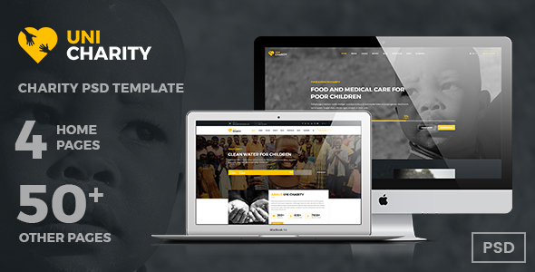 UniCharity | Charity PSD Template