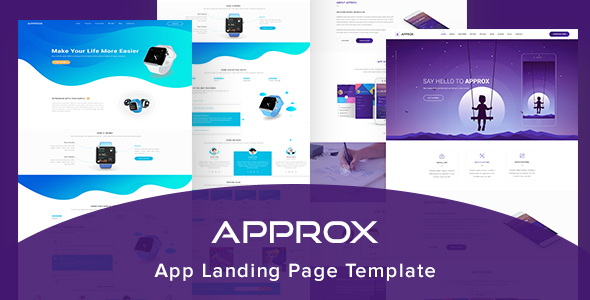 Approx App Landing Page Template