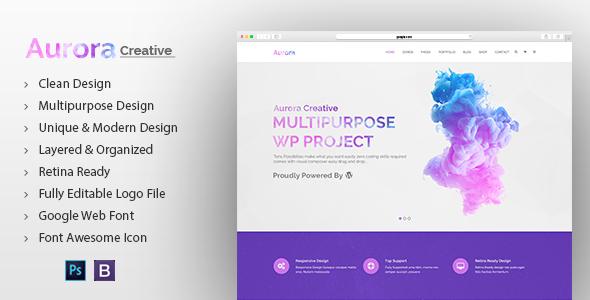 Aurora Creative Multipurpose PSD Template