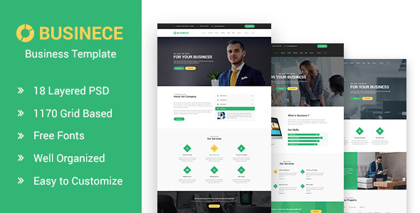 Businece- Business and Consulting PSD Template