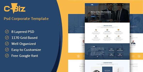 C-Biz: Corporate PSD template