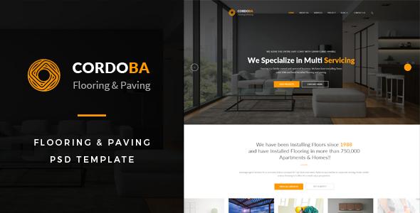 Cordoba : Flooring & Paving PSD Template