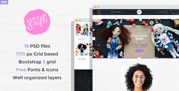 Craft - Hobby and Crafts PSD Template