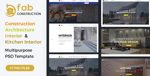 Fab Construction - PSD Template
