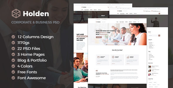 Holden Corporate & Business Template