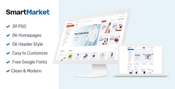 SmartMarket | Multipurpose Electronics eCommerce PSD