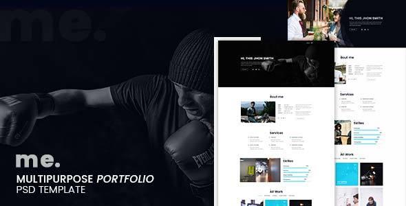 me - multipurpose portfolio psd template