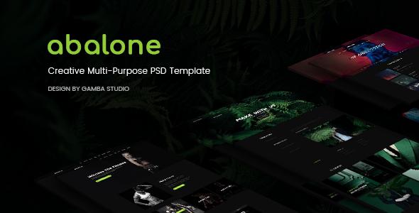 Abalone Creative Multi-Purpose PSD Template
