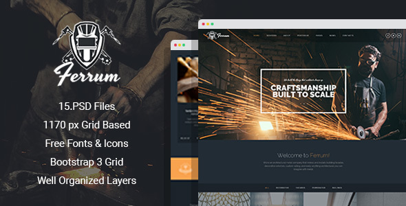 Ferrum - Welding And Metal Works PSD Template