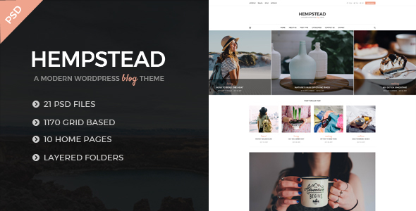 Hempstead - An Elegant And Modern Blog PSD Template