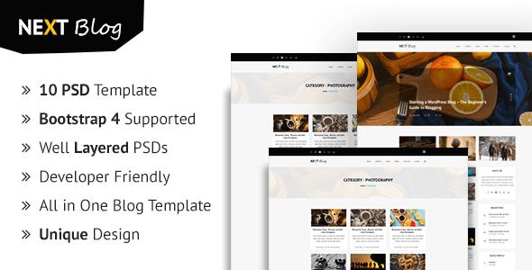 Nextblog - Personal Blog PSD Template